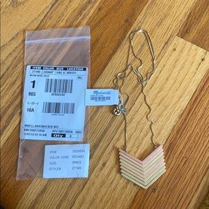 NWT Madewell Arrowstack necklace